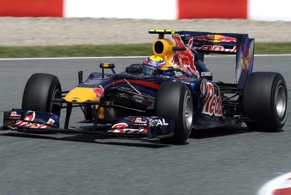 Vettel no pudo mantener el ritmo de su compañero de equipo y term...