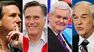 Según el conteo de CNN, Romney lleva hasta ahora 182 delegados, seguido...