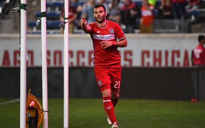 El húngaro Nemanja Nikolic, delantero de Chicago Fire.