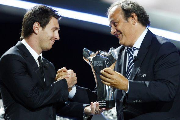 El gran año de Messi también fue reconocido por la UEFA, en el marco del...