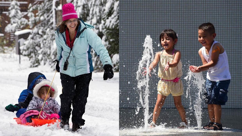 Mientras nieva en el norte de California, el sur se prepara para el calor.