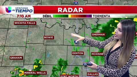 'Dallas en un Minuto': el calor da tregua y la lluvia aparece