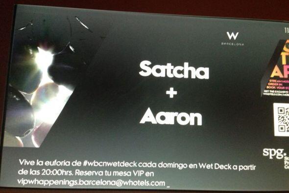 El hotel W en Barcelona está de fiesta por la boda de Satcha + Aaron.