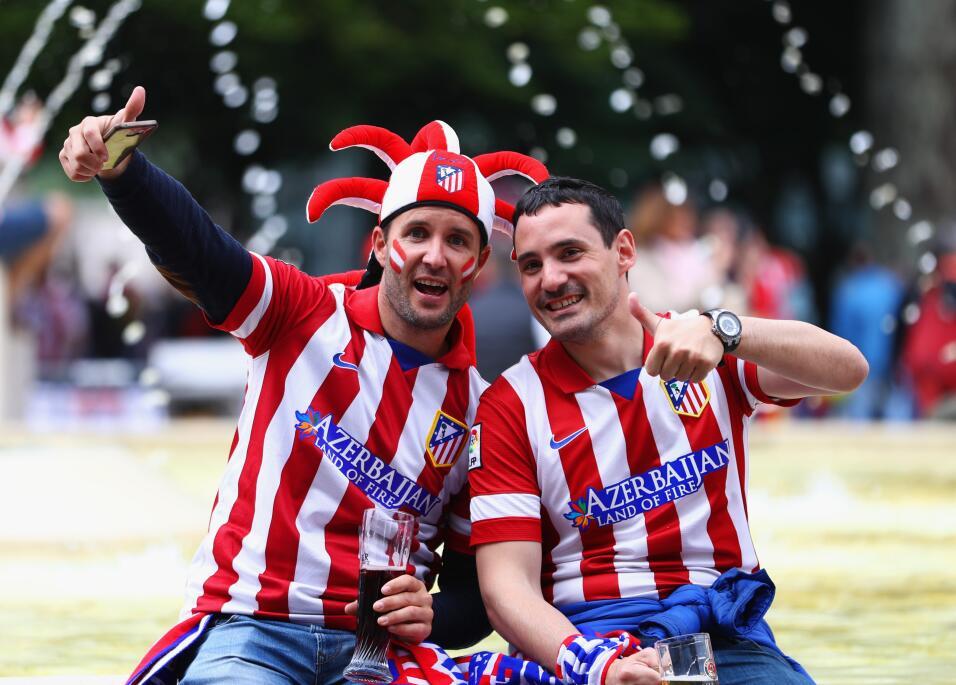 Los aficionados del Atlético de Madrid y Marsella se tomaron las calles...