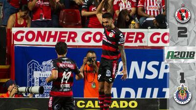 ¡Partidazo en la frontera! Xolos vence a Chivas para llegar a nueve partidos sin perder en casa