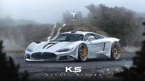 Tesla Super Car by Khyzyl Saleem