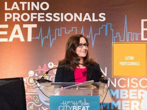 Geisha Williams en un encuentro de la organización Latino Profess...