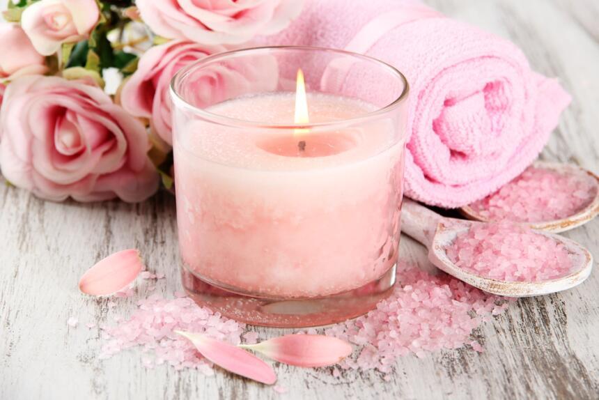 velas rosas