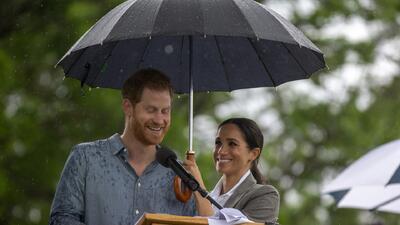 Morirás de amor con el gesto que tuvo Meghan Markle para proteger a su príncipe
