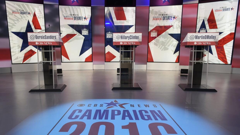 Está listo el escenario para el segundo debate demócrata.