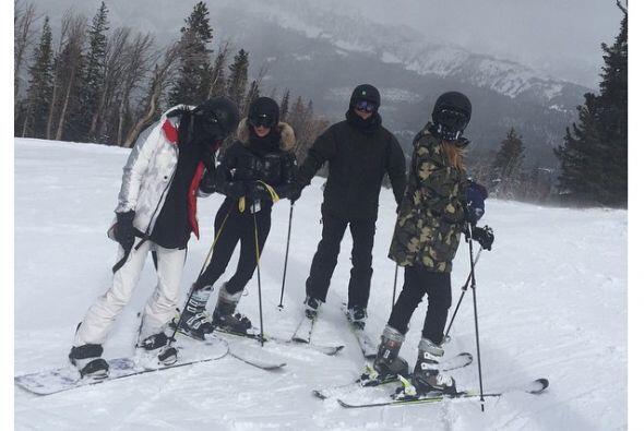 Kim, Khloé y Kylie pasaron unos días en las heladas montañas de Montana.