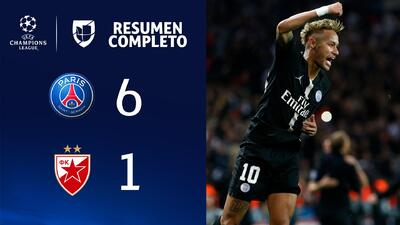 PSG 6-1 Estrella Roja - GOLES Y RESUMEN - Grupo C UEFA Champions League