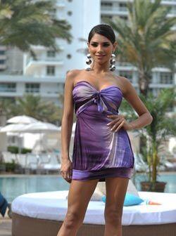 Una última pose de la primera reina de Nuestra Belleza Latina.