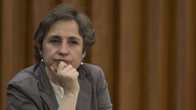 Carmen Aristegui (Fotografía de archivo)
