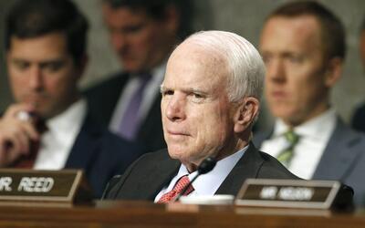 El senador republicano John MCain, de Arizona, en una audiencia en el Ca...