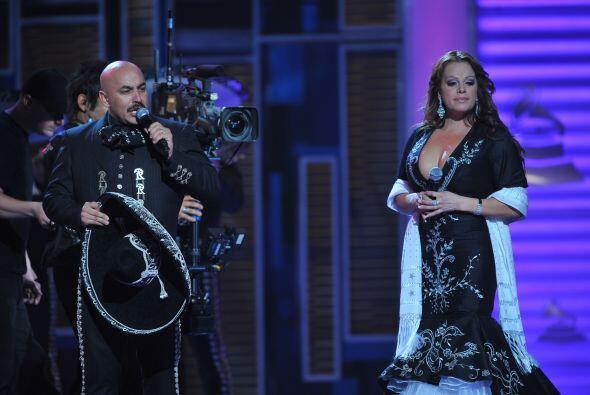 Lupillo y Jenni Rivera compartieron escenario.