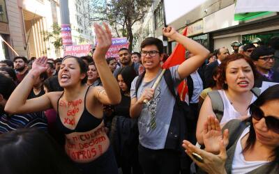 Una manifestación que defiende la ley que despenaliza el aborto,...