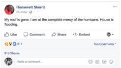 Roosevelt Skerrit, el primer ministro de Dominica, compartió en vivo en...