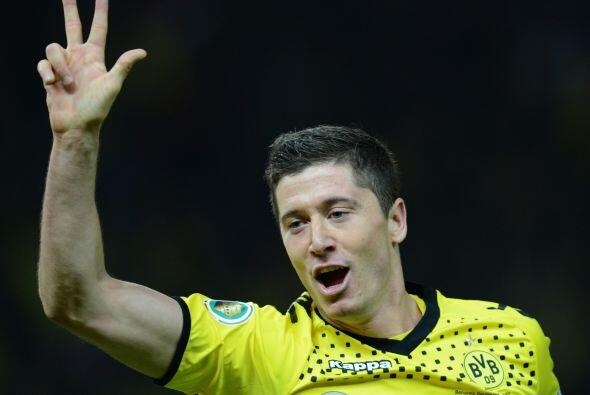 El atacante del Borussia Dortmund se destapó con la cuchara grande en la...