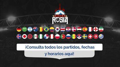 Revisa el calendario completo del Mundial Rusia 2018