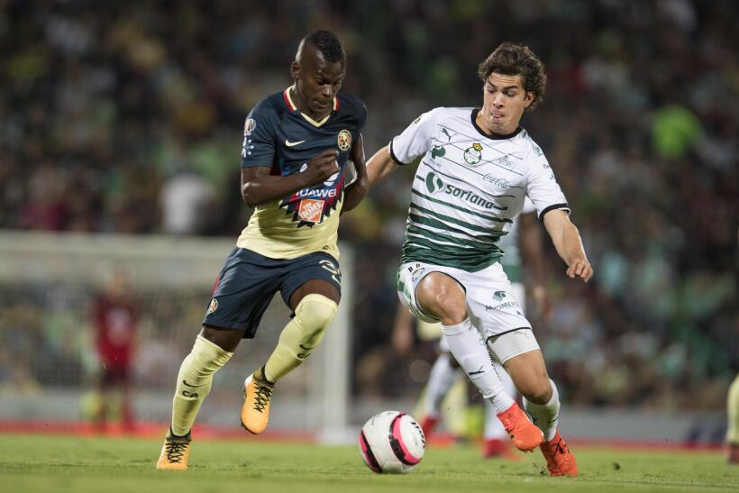 Con dedicatoria para Cruz Azul, América vence 1-0 a Santos 20171119-4441...