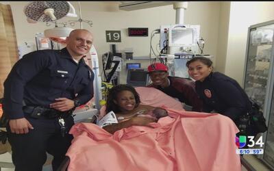 Policías auxiliaron con parto de emergencia en Los Ángeles