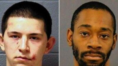 Michael E. Medeiros de 19 años y Charles R. Toliver atacaron a un oficia...