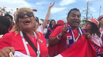 La 'marea roja' de Panamá vistió las calles de Sochi en la fiesta de Rusia 2018
