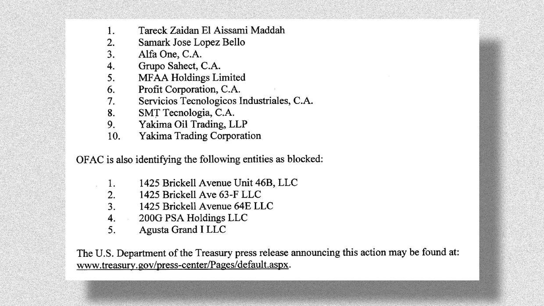 Estas son las propiedades que aparecían embargadas en la primera lista,...