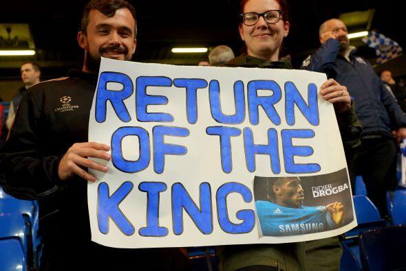Pero Stamford Bridge tenía motivos para estar feliz, conla vuelta a ese...