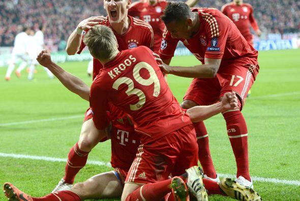 Este gol levantaba a todos los presentes en el Allianz Arena.