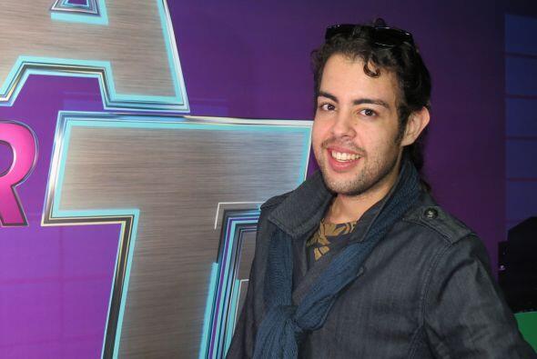 Raúl Vidal backstage en la semana cuatro.