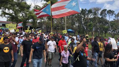 📸 Puertorriqueños protestan por la lenta recuperación de la isla tras el huracán María