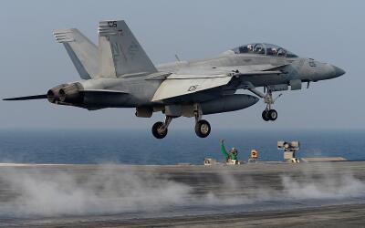 Una imagen de archivo de un avión militar estadounidense.