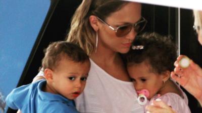Los hijos de Jennifer López y Marc Anthony sorprendieron porque son igualitos a sus papás