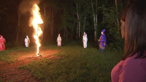 Por primera vez una afrodescendiente presencia el ritual de la quema de...