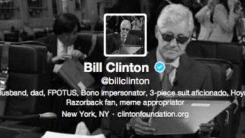 La foto de Bill Clinton en Twitter.