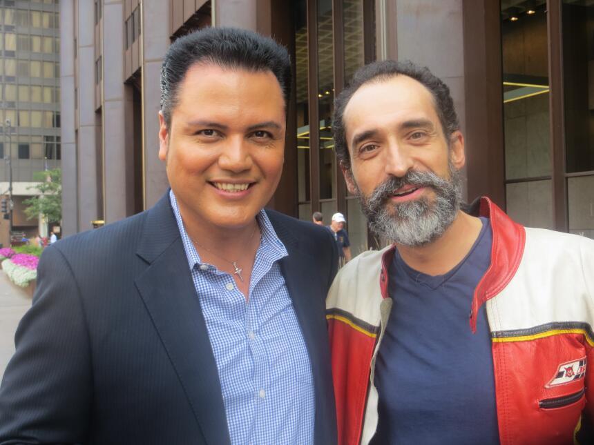 Bruno Bichir con Auri Salgado