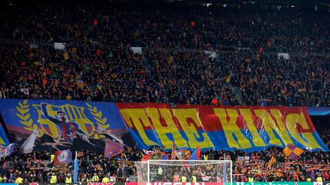Mosaico Barcelona para Messi