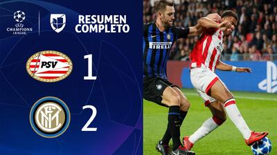 PSV Eindhoven 1-2 Inter de Milán - GOLES Y RESUMEN - Grupo B UEFA Champions League