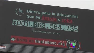 Anuncio muestra el robo de ingresos a la educación en México