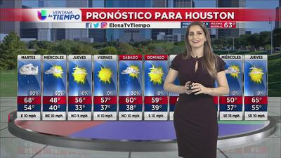 Houston vivirá un martes muy nublado con posibilidades de lluvias y algunas tormentas
