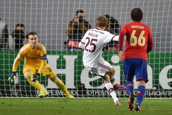 El delantero alemán abrió el marcador a los 22 minutos de la primera parte.