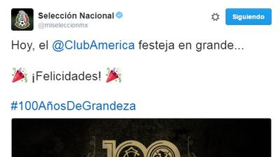 El fútbol felicita al América por su Centenario