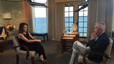 Kate del Castillo y Jorge Ramos, durante la entrevista.