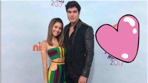 Danilo Carrera y su novia Angela Rincón