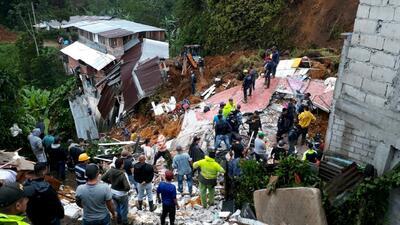 Al menos 12 muertos en Colombia tras un deslizamiento de tierra