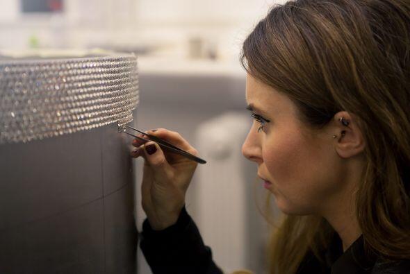 La artista Lauren Baker fue una de las encargadas en colocar estos peque...