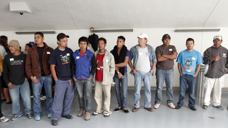 Migrantes centroamericanos (Imagen de archivo)