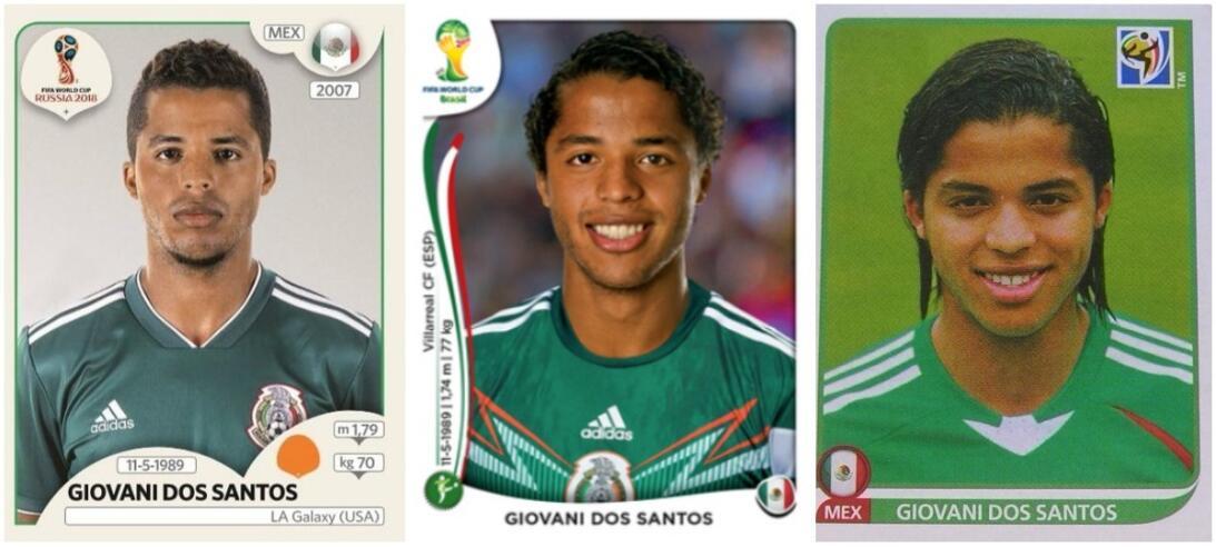 Giovani dos Santos - Rusia 2018 / Brasil 2014 / Sudáfrica 2010